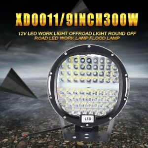 300w 12v Led Work Light Offroad Light Round Off Road Led Work Lamp Spotlight D9