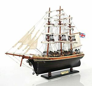 Cutty Sark China Clipper Tall Ship 22 Wooden Model No Sails Boat Assembled