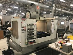Used Haas Vf 3 Cnc Vertical Machining Center Mill 10k Rpm Spindle Gear Box Ct 05