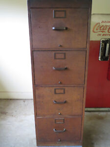 Antique Globe Wernicke 4 Drawer Oak File Cabinet
