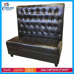 New 6 Piece Black Button Style Booths Commercial Restaurant Booth Seater Bo2 Lot