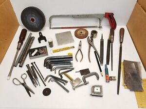 Large Assorted Lot Of Miscellaneous Tools Parts From A Machinist Tool Box C1
