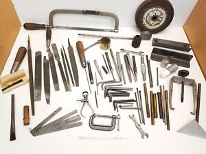 Large Assorted Lot Of Miscellaneous Tools Parts From A Machinist Tool Box C2