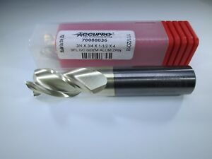 Accupro 78088036 Carbide 3 4 End Mill 3 Flute Aluminum Milling Lathe Tool Bit