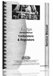 Service Manual Ensign All Lpg Carburetors Vaporizers Regulators