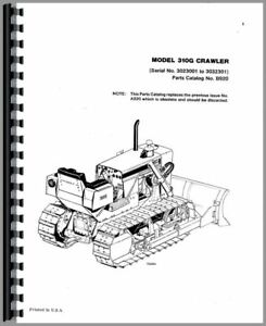Parts Manual Case 310g Crawler