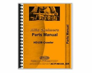 Parts Manual Allis Chalmers Hd10b Crawler