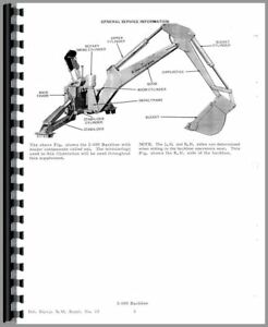Service Manual Allis Chalmers H4 Hd4 Crawler I 600 Backhoe Attachment