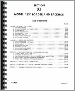 Service Manual Case 310c 310b 210 530 430 310 320 Tractor Loader Backhoe