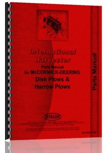 Parts Manual International Harvester Disk Plows