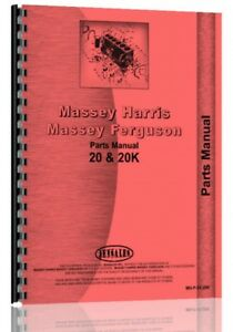 Parts Manual Massey Harris 20 20k Tractor