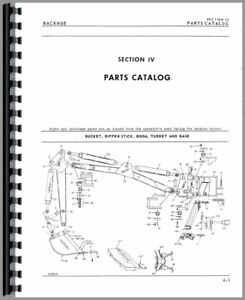 Parts Manual Oliver 1617 1600 1650 Backhoe Attachment