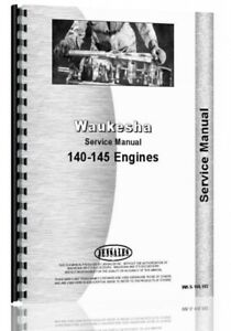 Service Manual Waukesha 145 gk Gkb Gs Gz Gzb 140 gk Engine