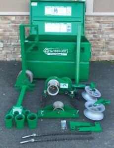 Greenlee 686 Cable Pulling 4k Lb Tugger Set Up 640 Motor Cable Puller awesome