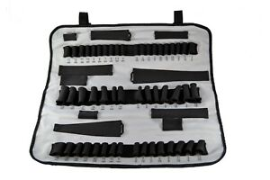 Socket Roll Pro Roll Up Tool Box Socket Organizer Carrier Grey Fits Craftsman