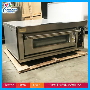 New Commercial Electric Pizza Oven Bakery Pizzeria Cooker Wings Snacks 220v