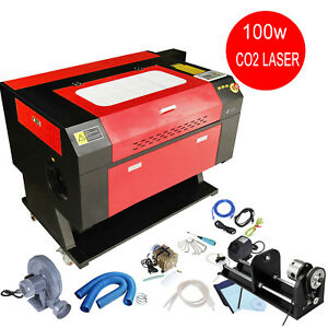 Usb Port 100w Co2 Laser Cutter Cutting Engraving Machine 0 01mm Cnc Rotary Axis