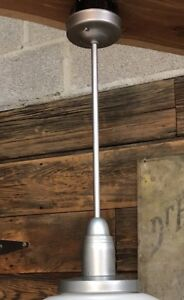 Vintage School House Light Shade Fixture Ceiling Pendant Hardware Mount Only
