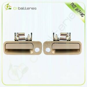 Front Left Right Pair Outside Door Handles For 1997 2001 Toyota Camry 4m9 Gold