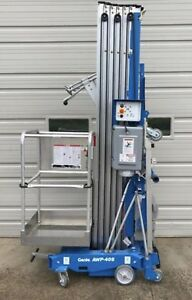 2016 Genie Awp 40s Dc 40 4 Electric Mast Lift Personnel Man Aerial Stock