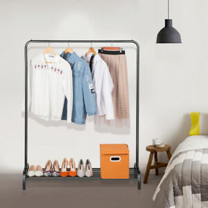 Langria Metal Standing Commercial Grade Clothing Garment Rack Storage Shelf Usa