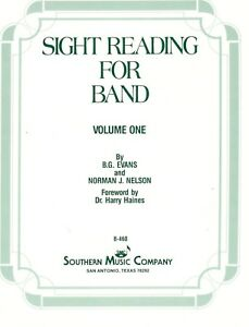 SIGHT READING FOR BAND VOLUME ONE FOR BASS CLARINET MUSIC BOOK 1-BRAND NEW-SALE