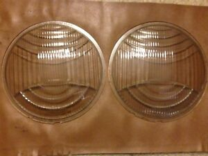 Vintage Pair Of Headlight Lenses Cadillac Lincoln Packard Le Salle
