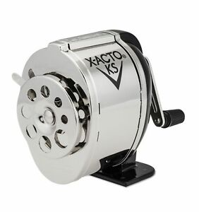 X acto Manual Pencil Sharpener Table Or Wall Mount Black Chrome