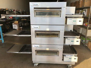 Lincoln 1132 Impinger Triple Deck Conveyor Pizza Oven Model 1132 002 In Electric
