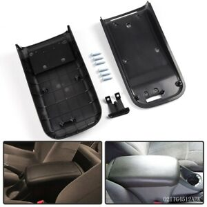Center Console Armrest Lid Kit For 2002 2009 Gmc Chevy Saab Buick Black
