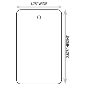 Large 1 75 X 2 875 White Blank Merchandise Tag