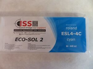 Roland Replacement Ink Esl4 4c Cyan 440ml Eco sol 2 Brand New Sealed In Package