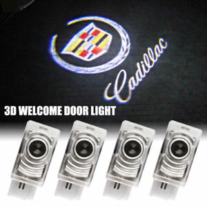 4pcs For Cadillac Led Projector Lamp Ghost Shadow Door Welcome Courtesy Light