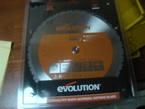 14 Inch Blade Carbide Chop Saw Evolution Power Tools 36 Tooth Metal Tct Cold Cut