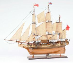Hms Bounty Tall Ship 37 Built Wood Model Sailboat Assembled