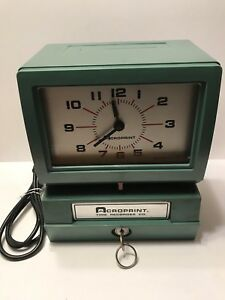Acroprint Time Clock Model 150nr4 Automatic Heavy Duty Anolog W key