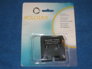 Rolodex Business Card Plastic Punch 67699 New Distressed Package