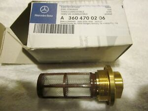 Genuine Mercedes Fuel Tank Strainer Filter A3604700206 New
