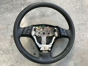 2004 2009 Mazda 3 Steering Wheel Leather Black With Switches Oem A7
