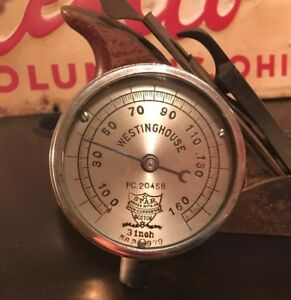 Antique Westinghouse Star Brass Mfg Co Steam Gauge Railroad