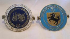 Two Vintage Mercedes benz Grille Badges 1970 1973 Free Shipping