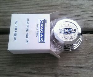 1 New Cragar Star Wire Wheel Center Hub Cap Tru 30 Spoke True Tru spoke Crager
