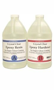 Epoxy Resin Crystal Clear 1 Gallon Kit For Super Gloss Coating And Tabletops