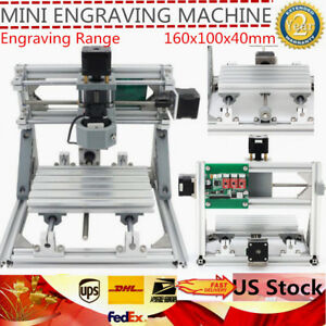 Cnc Wood Router 1610 Mini Milling Carving Engraving Machine grbl Control 3axis