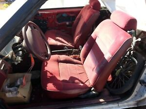 1993 Mustang Red Convertible Interior Front Seats 2 3 5 0 Lx