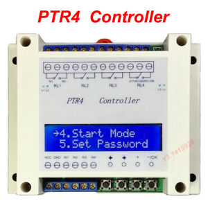 Ptr4 sp Four Programmable Time Relay 99step Multi channel Timer Modulecontroller