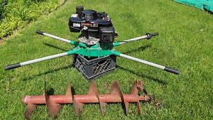 Post Hole Digger General M330h Honda Gas Powered Fence Borer Auger With Bit