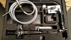 Olympus Lf tp Intubation Fiberscope Endoscope With Maj 524 Portable Light Source