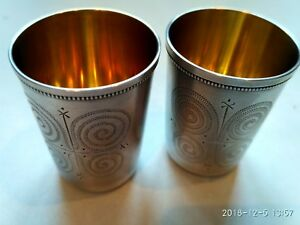 Silver Shot Glasses Pile Ussr Test 916 67 Grams Of Silver 1972