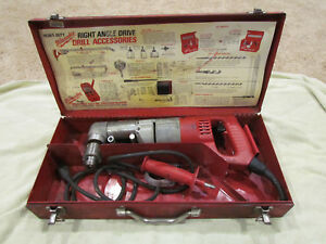 Milwaukee 1 2 Right Angle Drill Driver 1007 1 Two speed 48 06 2871 Metal Case
